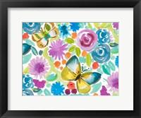 Framed Tropical Butterfly Garden
