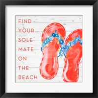 Framed Find Your Sole Mate on the Beach