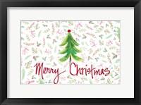 Framed Merry Christmas Tree