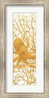 Framed Sealife on Gold I