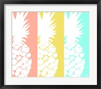 Framed Modern Pineapple Trio
