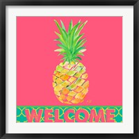 Framed Punchy Pineapple Welcome