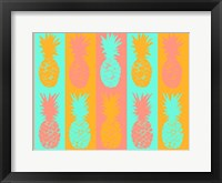 Framed Vibrant Pineapples Fiesta