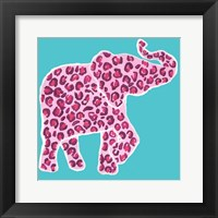 Framed Safari Pattern Elephant I