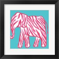 Framed Safari Pattern Elephant II