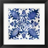 Framed Spanish Tile I