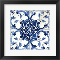 Framed Spanish Tile II