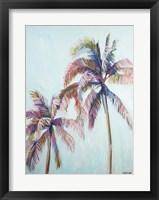 Framed Colorful Palm Tree I