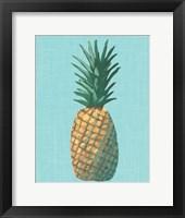 Framed Pineapple on Blue