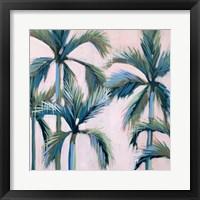 Framed California Pink Palms I