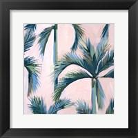 Framed California Pink Palms II