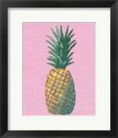 Framed Pineapple on Pink