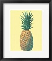 Framed Pineapple on Yellow