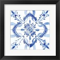 Framed Spanish Tile IV