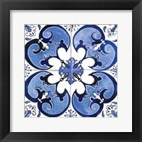 Framed Spanish Tiles III