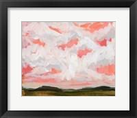 Framed Afternoon Pink Sky