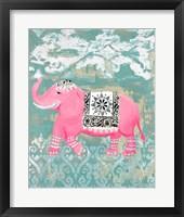 Framed Pink Bazaar I