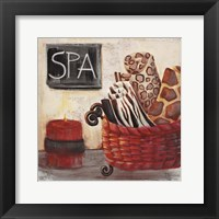 Framed Red Jungle Spa I