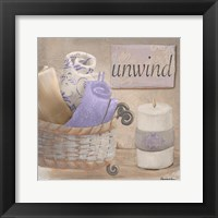 Framed Lavender Bath I