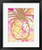 Framed Pink Gold Pineapple