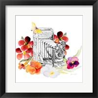 Framed Camera Sketch on Fall Floral I