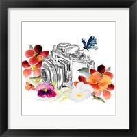 Framed Camera Sketch on Fall Floral II