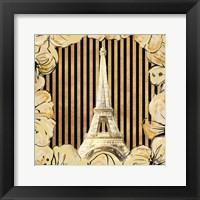 Framed Golden Paris I