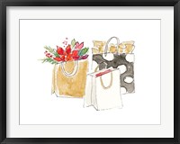 Framed Holiday Shopping Bags I