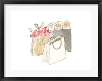 Framed Holiday Shopping Bags II