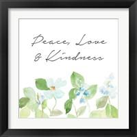 Framed Peace Love & Kindness