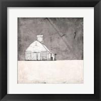 Framed Farmhouse under Grey Skies