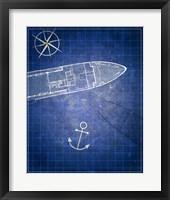 Framed Blue Prints I