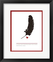 Framed Fine Feathers