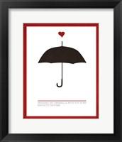 Framed Sharing an Umbrella