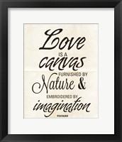 Framed Love is a Canvas