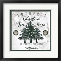 Framed Taupe Christmas Sign I