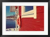 Framed Lake House in Winter
