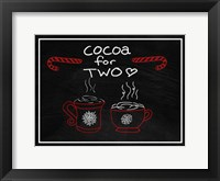 Framed Cocoa for Two