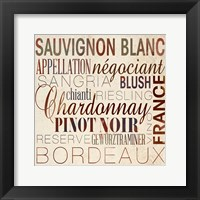 Framed Wine Words II