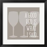 Framed Good Red