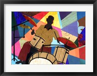 Framed Jazz Drummer