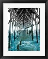 Framed Teal Dock I