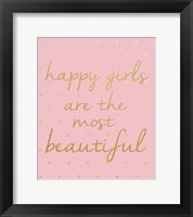 Framed Happy Girls