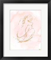 Framed Nude on Pink I