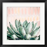 Framed Modern Green Agave