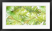 Framed New Green Scattered Palms