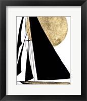 Framed Midnight Black Sailing