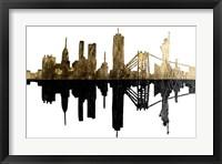 Framed Contemporary NY Gold