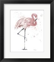 Framed Flamingo Stand II