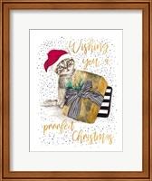Framed Wishing You A Prrrfect Christmas